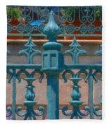 Wrought Iron Fence Fleece Blanket