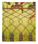 Wrought Iron With Red And Green Fleece Blanket