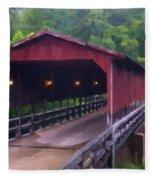 Wv Covered Bridge Fleece Blanket