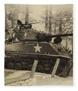 Ww II Battle Of The Bulge 02 Fleece Blanket