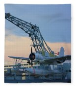 Ww II Sea Plane Fleece Blanket