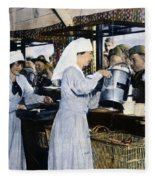 Ww1: Red Cross, 1918 Fleece Blanket
