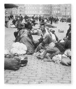 Wwi Refugees, C1914 Fleece Blanket