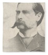 Wyatt Earp U. S. Marshal Fleece Blanket