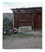 Wyoming Backroads Fleece Blanket