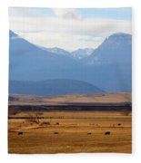 Wyoming Beauty Two Fleece Blanket
