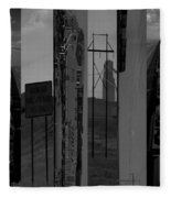 Wyoming Coal Mine Composition Black And White Fleece Blanket