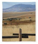 Wyoming Landscape Fleece Blanket