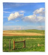 Wyoming Landscape Fleece Blanket