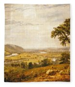 Wyoming Valley. Pennsylvania Fleece Blanket