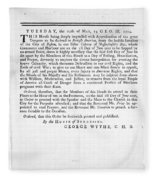 Wythe: Broadside, 1774 Fleece Blanket