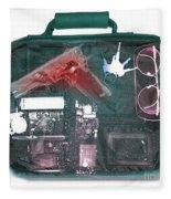 X-ray Of A Briefcase With A Gun Fleece Blanket