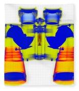 X-ray Of Binoculars Fleece Blanket