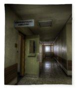 X Ray Waiting Room. Fleece Blanket