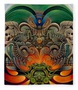 Xiuhcoatl The Fire Serpent Fleece Blanket
