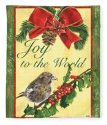 Xmas Around The World 2 Fleece Blanket