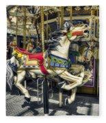 Xmas Carousel Fleece Blanket