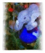 Xmas Elephant Ornament Photo Art 02 Fleece Blanket