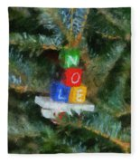 Xmas Noel Ornament Photo Art 01 Fleece Blanket