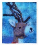 Xmas Reindeer 01 Photo Art Fleece Blanket