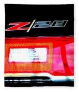 Xxl Chevrolet 2014 Z28 Tail Light Fleece Blanket