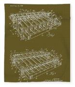 Xylophone Patent 1949 Fleece Blanket
