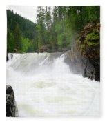 Yaak Falls Fleece Blanket