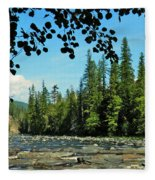 Yaak River Fleece Blanket