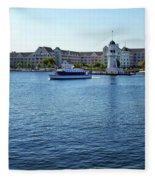 Yacht And Beach Club Wdw Fleece Blanket