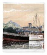 Alaskan Sunrise Fleece Blanket