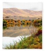 Yakima River Autumn Fleece Blanket