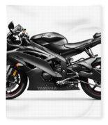 Yamaha R6 Supersport Motorcycle Fleece Blanket