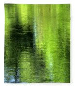 Yamhill River Abstract 24831 Fleece Blanket