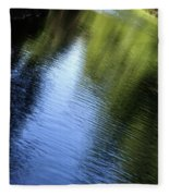 Yamhill River Abstract 24849 Fleece Blanket