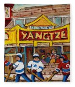 Yangtze Restaurant With Van Horne Bagel And Hockey Fleece Blanket