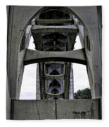 Yaquina Bay Bridge - Series C Fleece Blanket