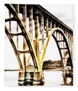 Yaquina Bay Bridge - Series G Fleece Blanket