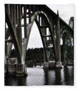 Yaquina Bay Bridge - Series J Fleece Blanket
