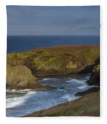 Yaquina Head Light Fleece Blanket