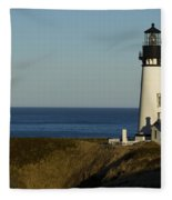 Yaquina Head Lighthouse 4 D Fleece Blanket
