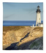 Yaquina Head Lighthouse 4 G Fleece Blanket