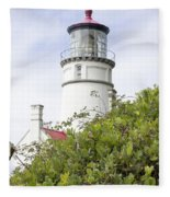 Haceta Head Lighthouse 7 Fleece Blanket