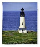 Yaquina Historic Lighthouse Fleece Blanket