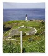 Yaquina Lighthouse From Salal Hill Trail  Fleece Blanket