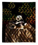 Yawning Panda  Fleece Blanket