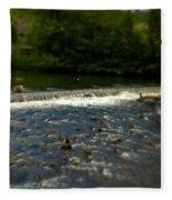 Ye Olde River Wye Fleece Blanket
