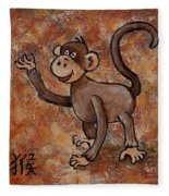 Year Of The Monkey Fleece Blanket