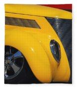 Yellow '37 Fleece Blanket