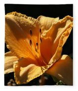 Yellow And Cream Day Lily Fleece Blanket