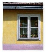 Yellow And Pink Facade. Belgrade. Serbia Fleece Blanket